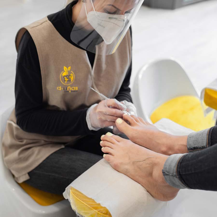 d-uñas nails & beauty La marca original de belleza de manos & pies-Pedicura